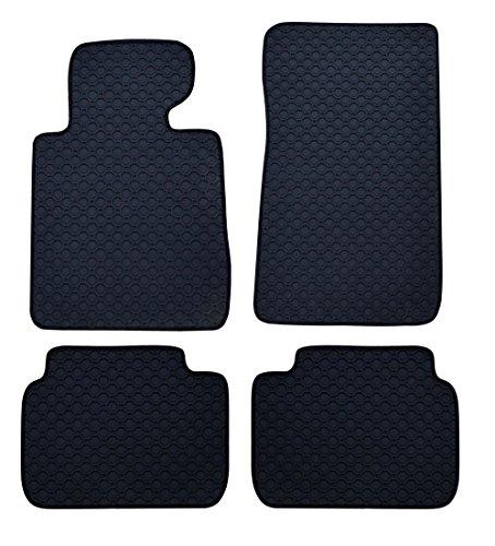 Preisvergleich Produktbild Passform Gummimatten Fussmatten schwarz OCTAGON für BMW 3er F30 Limousine ab Bj. 02/12 mit Mattenhalter Fahrermatte