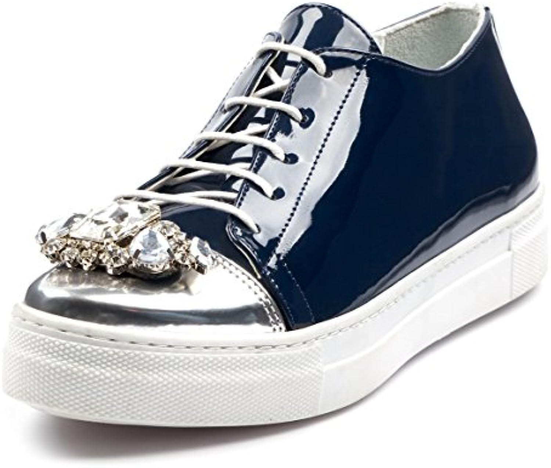 BOBERCK Coleccion Krista Fashion Sneakers Zapatillas de Moda para Mujer (5 US, Azul)