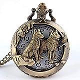 Waymeduo Unisex Vintage AntikeTaschenuhr Kette Bronze Taschenuhr, Vintage-Stil,...
