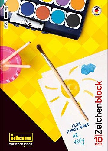 Idena 10389 Zeichenblock FSC-Mix, A2, 10 Blatt, 120 g/m²
