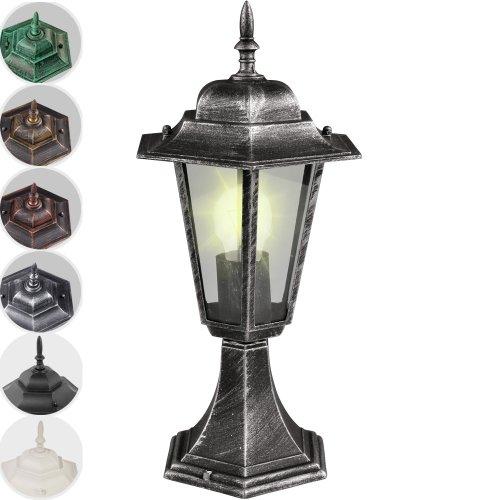 Jago Aussenleuchte Laterne Lampe Gartenbeleuchtung Antik-look 41cm hoch aus Aluminium in der farbe Ihrer Wahl
