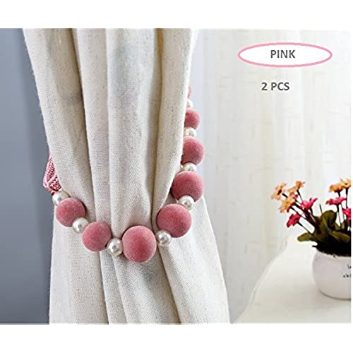 Tie Back Kitchen Curtains: Pink Curtain Tie Backs: Amazon.co.uk
