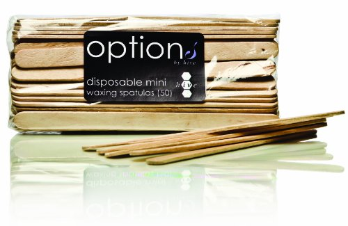 Hive Options Disposable Mini Waxing Spatulas - Pack of 50, 1er Pack (1 x 90 g) -