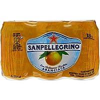 San Pellegrino Boisson Pétillante Aromatisée au Jus d'orange - Pack 6 Boîtes X 33 cl