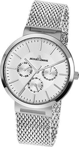 Jacques Lemans Reloj Analógico para Unisex Adultos de Cuarzo con Correa en Acero Inoxidable 1-1950G