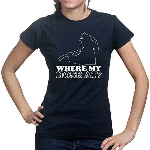 Customised_Perfection Hose Hoes Fireman Firefighter Ladies Womens T Shirt