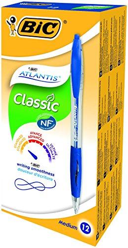 bic-druckkugelschreiber-atlantis-clic-classic-04-mm-schachtel-a-12-stuck-blau