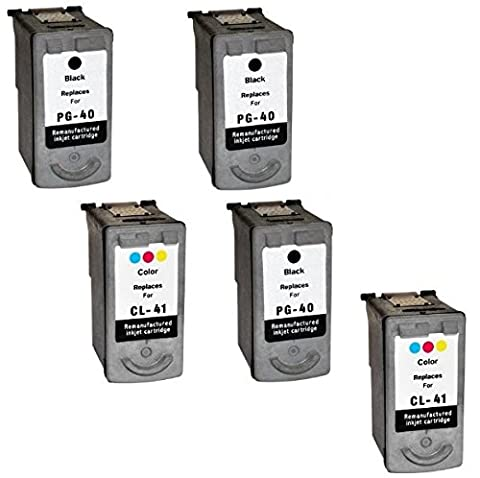 Prestige Cartridge PG-40/CL-41 Lot de 5 cartouches d'encre compatible imprimantes