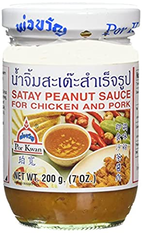 Por Kwan Satay Peanut Sauce 200 g (Pack of 6)