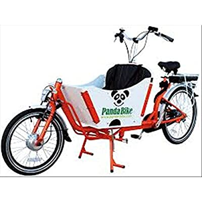 Tandem Bicycle Custom Cargo Transport Of Persons And Goods Used Vintage Black And White Green