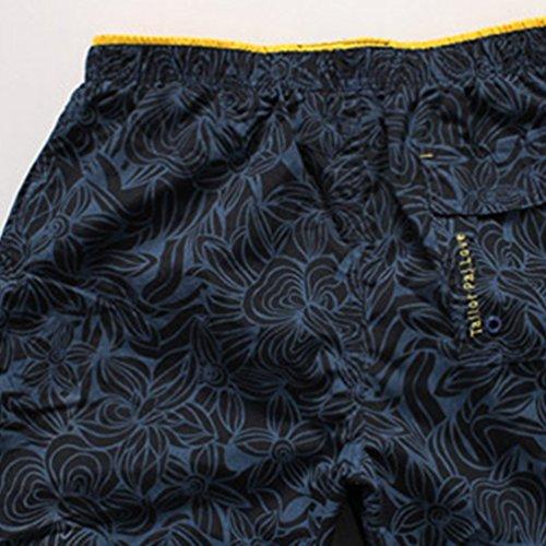 Niseng Homme Board Shorts Impression Maillot De Bain Séchage Rapide Plage Short Surf Shorts FoncéBleu