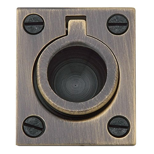 Baldwin 0392050 Flush Ring Pull, Antique Brass -