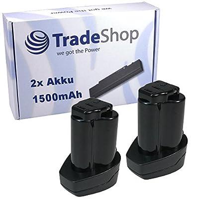 2x Hochleistungs Li-Ion Akku 10,8V / 1500mAh ersetzt Metabo 6.25438, 6.25439 für Metabo PowerImpact 12, PowerLED 12, PowerMaxx 12 Basic Pro, ASE, BS, BS Quick, RC, SSD