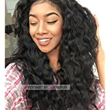 16 inch 140% density , Natural Color : Premier 140% Dendity Weavy Human Hair Wig Brazilian Remy Human Hair Lace Front Wigs For Black Women Glueless Brazilian Loose Wave Wigs 16 Inch Natural Color Body Wave Human Hair Wigs