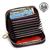 APHISON Cartera para Mujer Billetera para Tarjetas de Crédito, RFID Bloqueo Monedero de Cuero ID Portatarjetas (006)