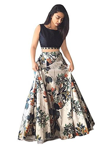 Nplash fashion girls party wear grey color choli