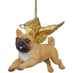Design Toscano jh170724decoración de fiesta ángel perro carlino 4x 9x 7,5cm), multicolor