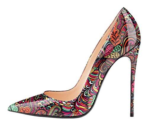 EDEFS - Scarpe col tacco donna - Scarpe donna tacco Alto - Stiletto - Multicolored Rosso