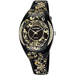 ORIGINAL CALYPSO Uhren by FESTINA Damen Uhrzeit Gummi Schwarz - k5621-6