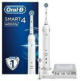 Oral-B Smart 4000N Elektrische Zahnbürste, mit zwei Aufsteckbürsten und Ladestation, weiß