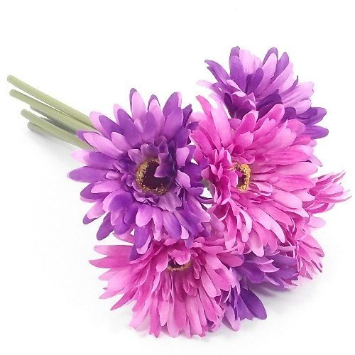 bunch-of-6-purple-lilac-artificial-gerbera-stems-with-large-4-blooms-weddings-homes-grave-by-a1-home