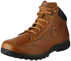 Red Chief Mens Glassy Tan Leather Boots - 6 UK/India (39 EU)(RC3403 287)