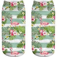 OHlive Suave Zapatillas de Deporte Impresas Flamingo 3D Liners Tobilleras (1 par-HLN18-One Size) (Color : HLN18, tamaño : Talla única)