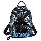 BJYG Mode Rucksack Leucht Holographische Tasche Leder Rucksack Pailletten Rucksack Reflektierende Rucksack Schule College Rucksack 29 * 12 * 39