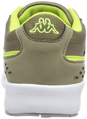 Kappa Milla, Baskets Basses Femme Vert (3433 Khaki/lime)