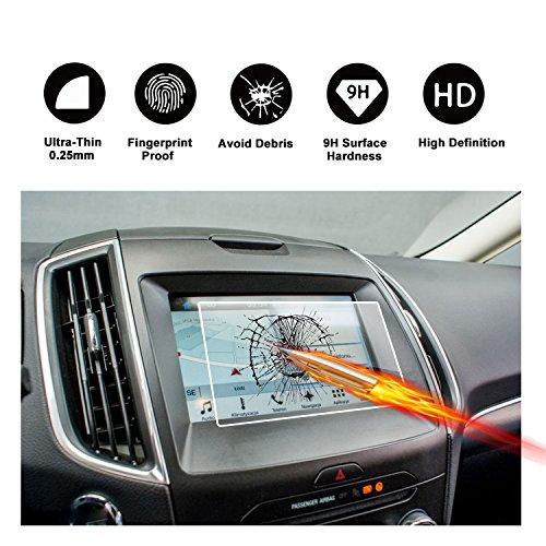 Protezione in vetro temperato schermo 8pollici per il sistema di navigazione di Ford S-Max II (2015–2017) (sincronizzazione 2/3) invisibile pellicola protettiva per schermo vetro schermo pellicola trasparente di ruiya