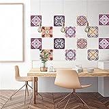 Adhesivo decorativo azulejos para baño y cocina Azulejos adhesivos de imitación Collage de azulejos 6 (Piezas), Sencillo Vida, Geometric