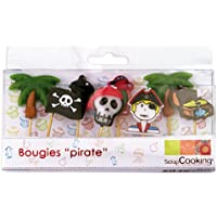 ScrapCooking 5000 8 Bougies-Pirates, Paraffine, Multicolore, 10,5 x 10 x 2 cm