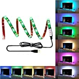 LED TV Hintergrundbeleuchtung Streifen EUGO 100cm(39Inch) 5V RGB USB Wasserdicht 60 LEDs Bias Beleuchtung Kit für TV Gaming, Multi Color e Bias Beleuchtung für HDTV