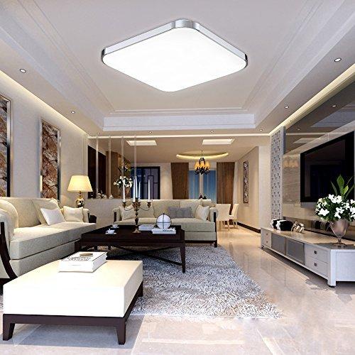 HG® 12W LED Deckenleuchte Innenleuchte IP44 Korridor Leuchte Küchen Esszimmer Weiß Energiespar Licht aus Aluminium