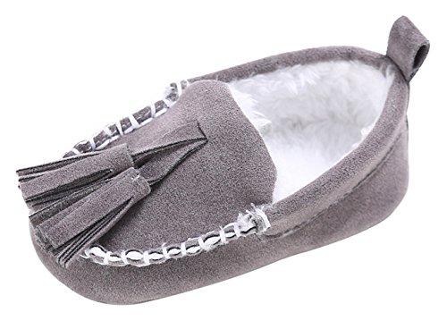Y-BOA Mocassin Faux Fourrure Bébé Fille Garçon Loafers Chaussure Bateau Plate Slip-on Semelle Souple