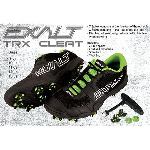 Exalt Paintball TRX Cleats - Black / Lime - Size 10