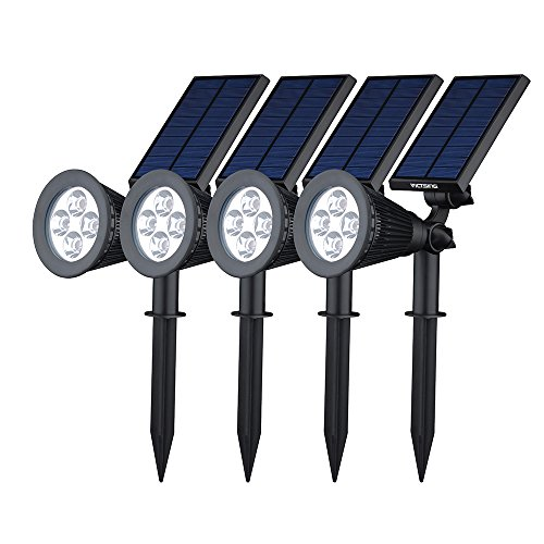 [200 Lumenes & 4Packs] Luz Solar de LED de VicTsing Impermeable, Luz de Paisaje al Aire Libre, para Calzada, Patio, Cesped, Pathway, Jardín