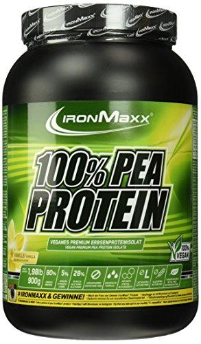IronMaxx 100 Prozent Pea Protein - Vanille, 1er Pack (1 x 900 g)
