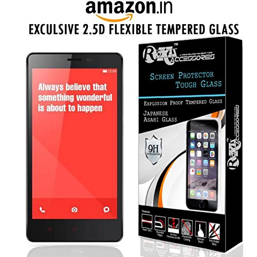 ROXEL Pro HD+ 9H Hardness Toughened Tempered Glass Scree Protector for Redmi Note 4G