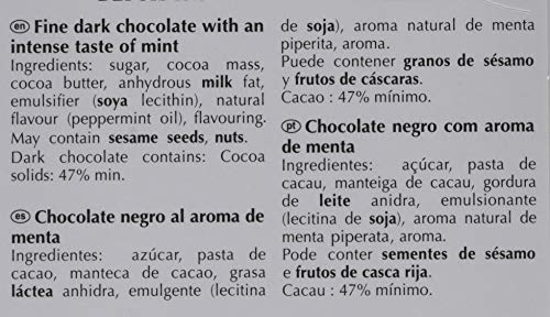 Lindt Excellence Tableta de Chocolate Negro con Menta - 5 Tabletas de 100 gr - Total: 500 gr