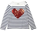 K Collection Girls Ex Store Striped Heart Sequin Cotton Top Ages 2-10 Years Jumper Party (10 Years)