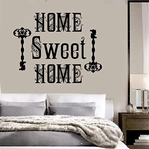 Quote Adesivi murali in vinile rimovibili Home Sweet Home Room Decor Wall Stickers Casa Decorare Camera da letto Art Decal Murale Carta da parati Z 52x42cm