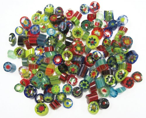 Diamond Tech Crafts Fuseworks di vetro Millefiori a fette.-Assorted 5 oz - Vetro Abbellimenti