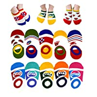10 Pack Girls Boys No Show Socks Toddler Low Cut Cotton Socks 1-3 Years (A)