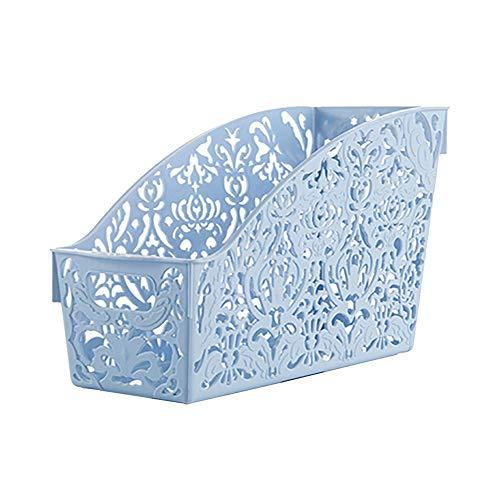 TDFGCR Kunststoff-Ablagekorb-Desktop-Badezimmer-Familien-Kleinigkeiten-Stift-Bleistift-Speicher—Blau