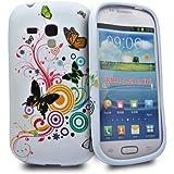 Accessory Master Etui en silicone pour Samsung Galaxy S III Mini i8190 Multi couleurs Motif Fleurs Fancy