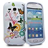 Accessory Master Silikon-Hülle für Samsung i8190 Galaxy S3 mini Multi Farbe Blumen Muster Fakir / Butterfly