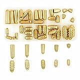 laiton Pêche Bullet plombs Poids kit pour Texas Rig et Carolina Rig, 50pcs/Box