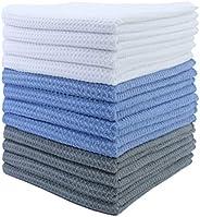 Polyte Premium Microfiber Kitchen Dish Hand Towel Waffle Weave