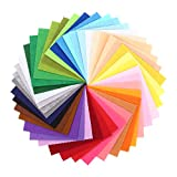 Feltro in Fogli Soledì 41 Colori Feltro e Pannolenci Fogli Colorati Lavoretti di Cucito Bricolage Tessuto Patchwork 15 * 15 cm